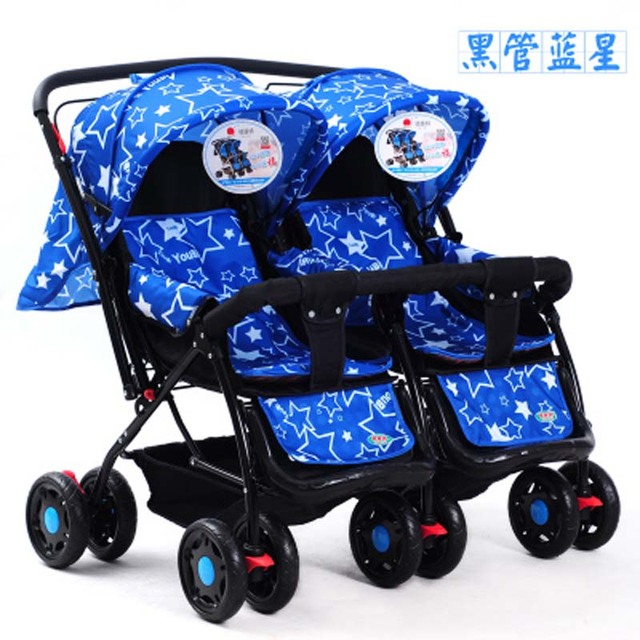 5 wheels Twin stroller baby carriage/ prams/ buggy,double seat stroller