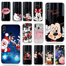 Lovely Mickey Flower Painted Soft Silicone TPU shell Coque For Huawei P Smart 2019 Enjoy 7S honor 10 lite phone Cover Case