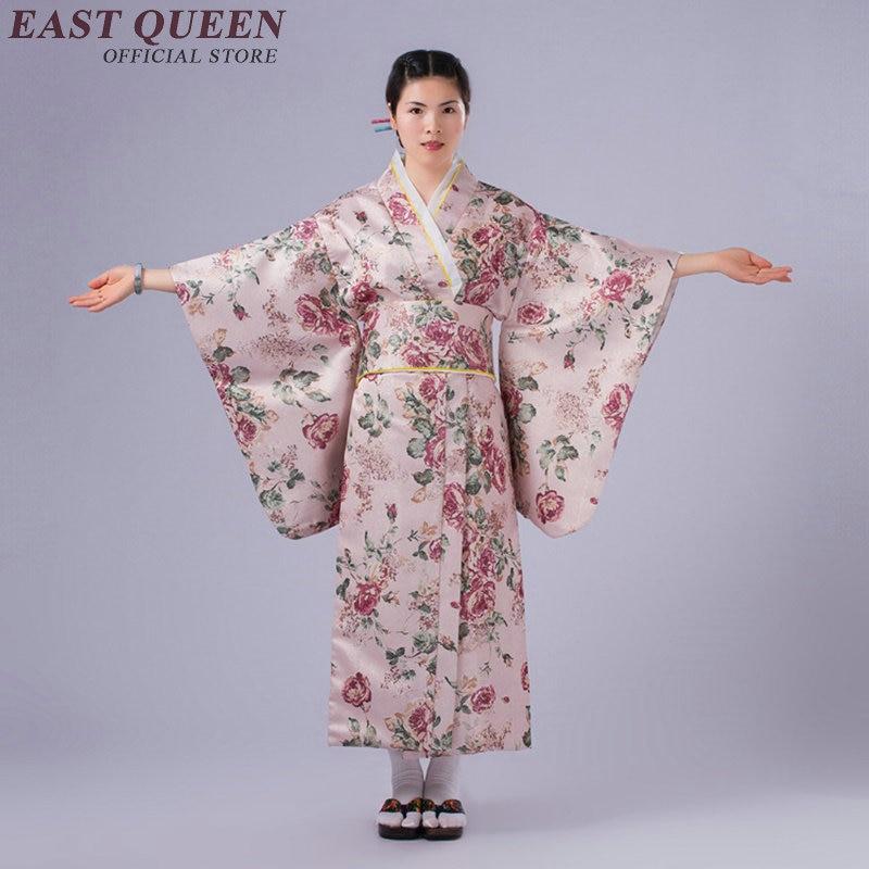Traditional Japanese Kimonos Women Female Japanese Kimono Traditional Dress Yukata    KK2361