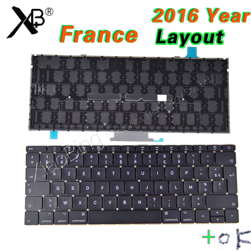 Early 2016-2017year Laptop A1534 French Keyboard Backlight Backlit +Screws for Macbook 12 A1534 FR AZERTY FRANCE Keyboard fr french backlight keyboard for fujitsu lifebook e753 e754 laptop sliver frame laptop keyboard fr layout