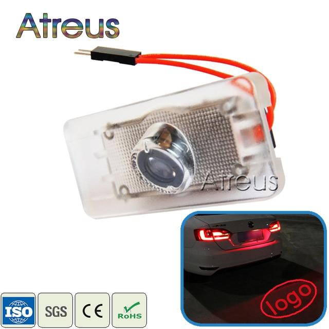 Atreus 1Pc Car LED License Plate Light For Audi A6 S6 A3 A4 Q5 A7 S5 S7 Q3 TTS Accessories Audi Logo projector Laser Lamp Bulb