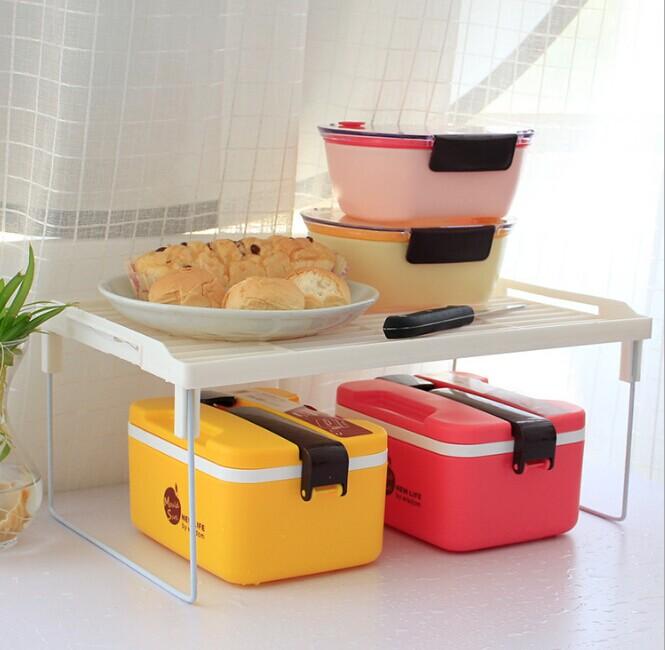 1PC Kitchen Storage Rack Plastic Folding Flavoring Shelf Organizer For Kitchen Bathroom Practical Tool OK 0089