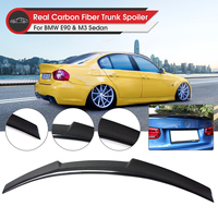 Carbon Rear Trunk Lid Spoiler Wing Lip Spoiler Wing M4 Style Rear for BMW E90 3 Series 4 Door Sedan 2006 2011 M3 2008 2012