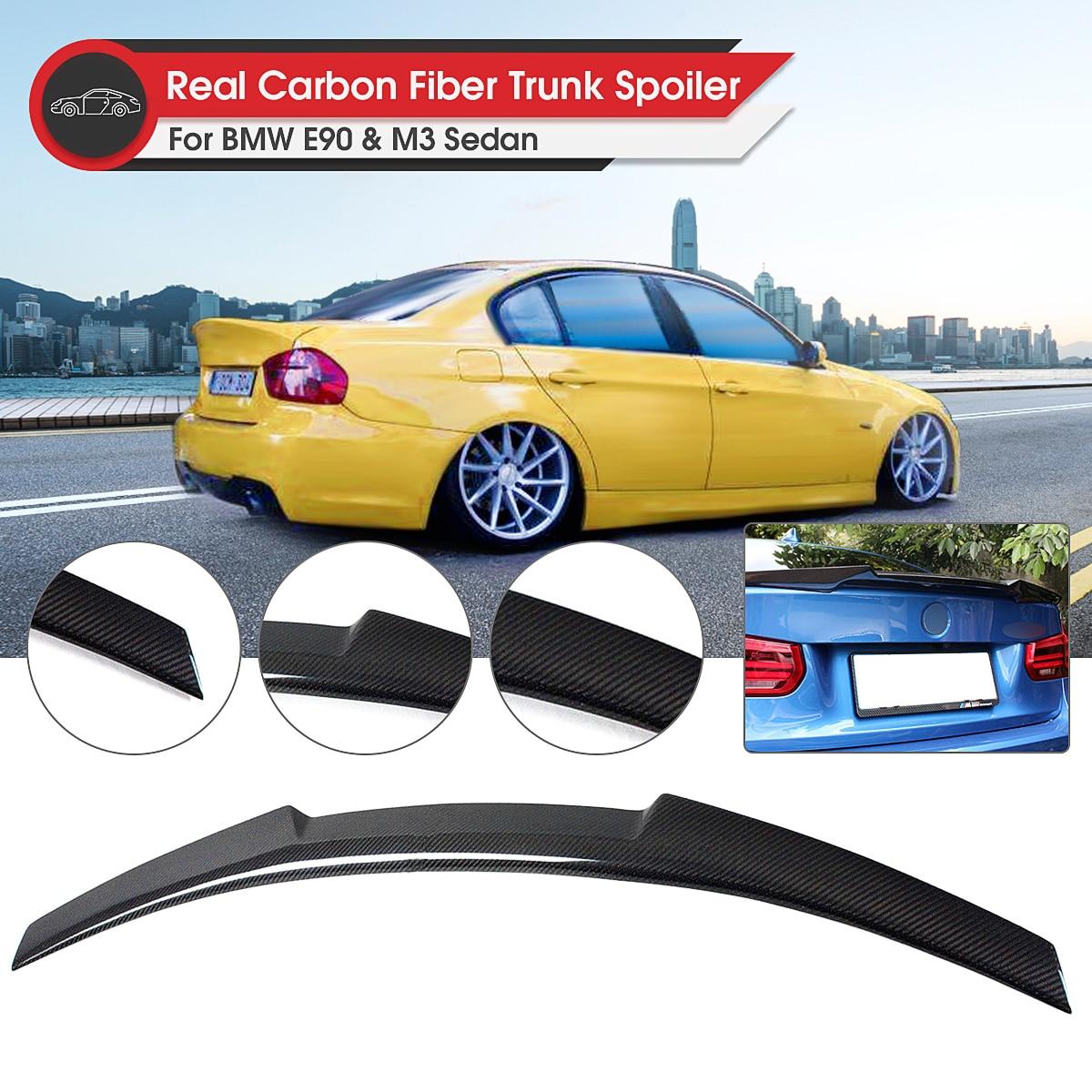 Carbonio Cofano del Bagagliaio Posteriore Spoiler Ala Lip Spoiler Wing-M4 Stile Posteriore per BMW E90 3 Serie 4 Porte Berlina 2006 -2011 M3 2008-2012