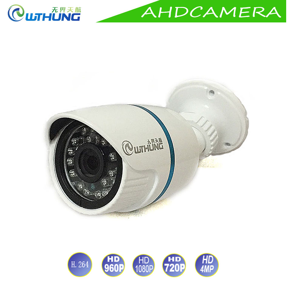 New AHD Camera 720P 960MP 1080P 4MP Metal Bullet Outdoor Waterproof IR Cut filter Night Vision For Security Camera Free shipping free shipping new waterproof ahd 720p bullet metal camera hd 1mp cctv outdoor security 24 ir night vision bnc cable