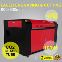 100 W C02 USB лазерной резки/лазерный гравер машина прайс лист на Платформе 1000 мм/сек. 900*600 мм