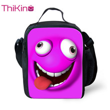 Thikin New Funny Looks Lunchbox Food Picnic Bag for Girls 3D Printed Small  Lunch Students Pouch Storage