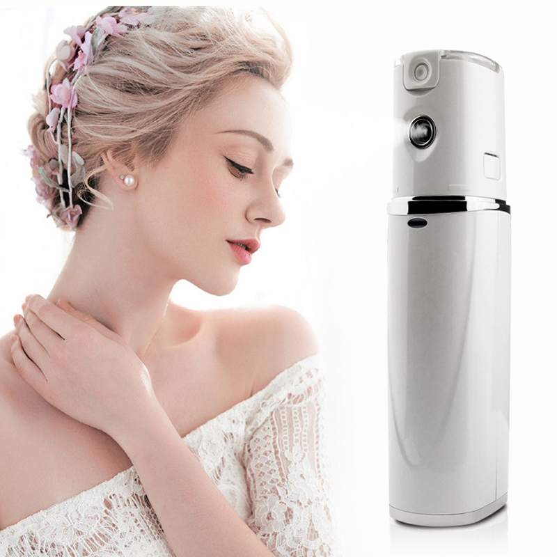 Portable nano spray device Handy Sprayer Dry & Oil Skin Promote Facial Absorption Moisturizing & Hydrating Water Rechargeble