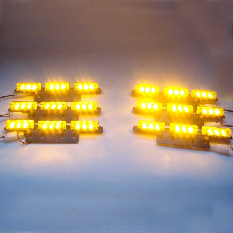 AMBER 6*9 54 LED Car Vehicle Auto Warning Blinking Strobe Flash   Emergency Lights Lightbar Deck Dash LIGHTS 3 Mode 12V