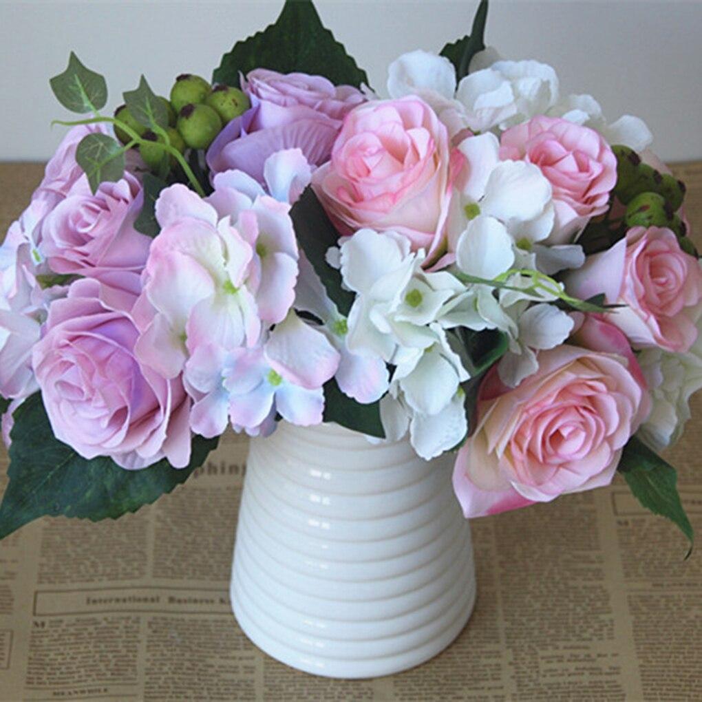nuptiale de mariage faux bouquet de fleurs rose artificielle fleur