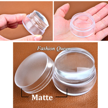 Matte Nail Art Stamper Scraper with Cap Silicone Jelly 3.5cm Nail Stamp