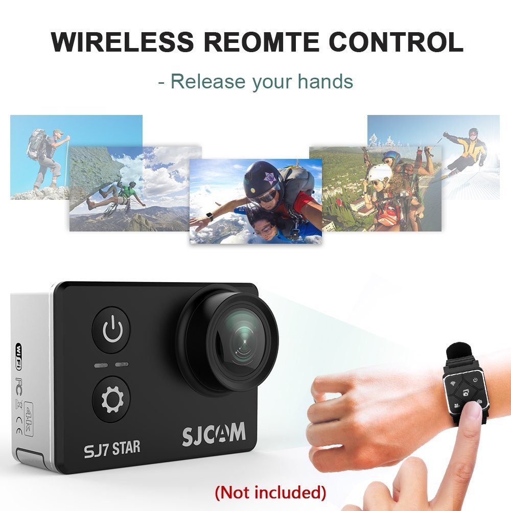 """Image 5 - Original SJ7 Star 4K 30fps Ultra HD SJCAM Action Camera Ambarella A12S75 2.0"""" Touch Screen 30M Waterproof Remote Sport DV-in Sports & Action Video Camera from Consumer Electronics"""