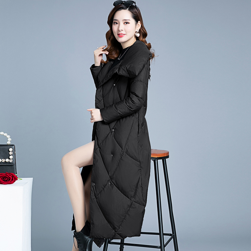 2019 winter new women cotton coat long solid thicken   parka   down jackets outwear coat tops