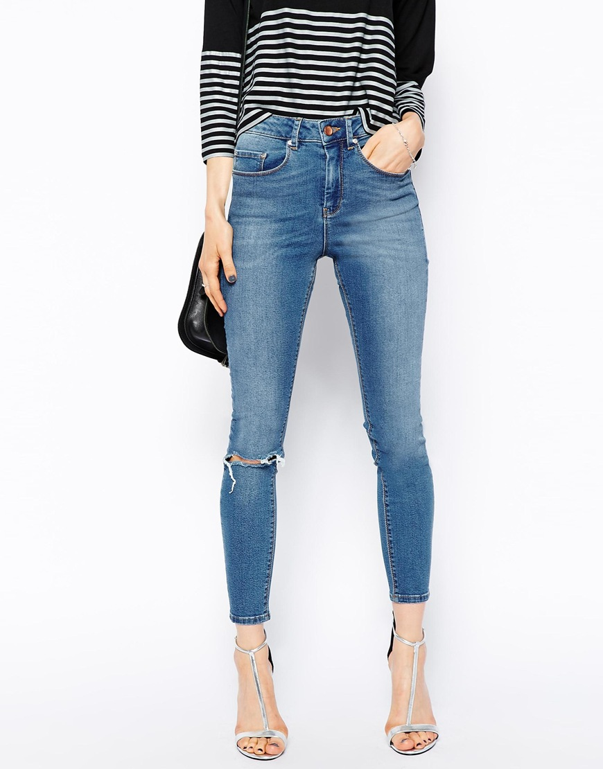 Compare Prices on Skinny Ankle Jeans Ripped Knee- Online Shopping ...