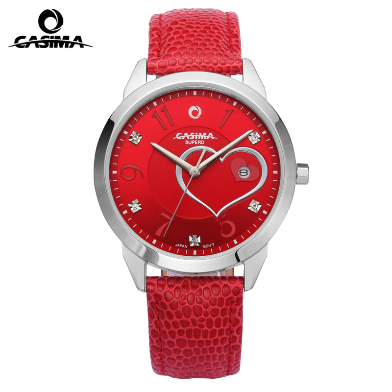 Luxury Brand Watch Women Fashion Beauty Crystal Table Casual Quartz Wrist Watch Leather Ladies Watches Clock Waterproof CASIMA fashion luxury brand watches women elegent leisure gold crystal women s quartz wrist watch red leather waterproof casima 2603