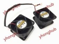 AVC DV05028B12U Double Fan DC 12V 1.65A 2 wire 40X40X20mm Server Cooler Fan