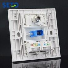 SeTo 86 Тип RJ45 Cat5e сеть Lan+ tv+ SC+ RJ11 Cat3 Телефонная настенная пластина розетка Keystone Лицевая панель