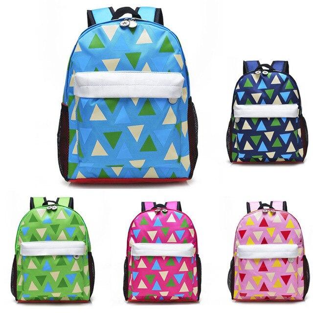 618646758fe9 OCARDIAN backpack Baby Girls Boys Cartoon Zipper Backpack Triangle  geometric pattern colorful school backpacks Mar 28