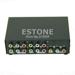 4 Порты и разъёмы Вход 1 Выход Аудио Видео AV RCA Выключатель Переключатель Селектор коробка Z09 Прямая поставка