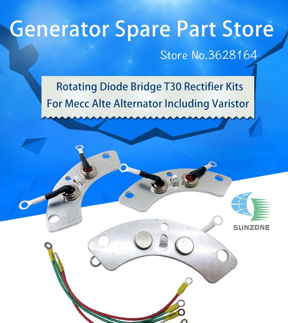 Rotating Diode T30 Bridge Kits Rectifer T30 For Mecc Alte Alternator 3 pcs  per Set T30 Diode Plate Including Varistor