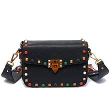 2017 Luxury handbags women bags designer crossbody bags for women fashion stud shoulder bags famous brand women messenger bags