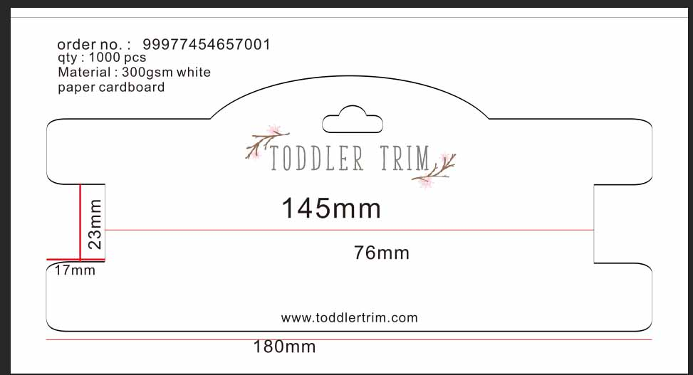 Custom logo hair clip package card jewelry package card with personalized logo qty for 1000pcs per