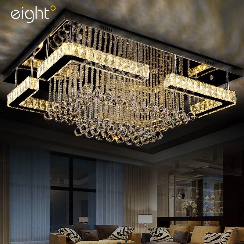 Современные светодиодные потолочные лампы K9 хрустальные светильники Освещение для дома светильники для гостиной Потолочные светильники д