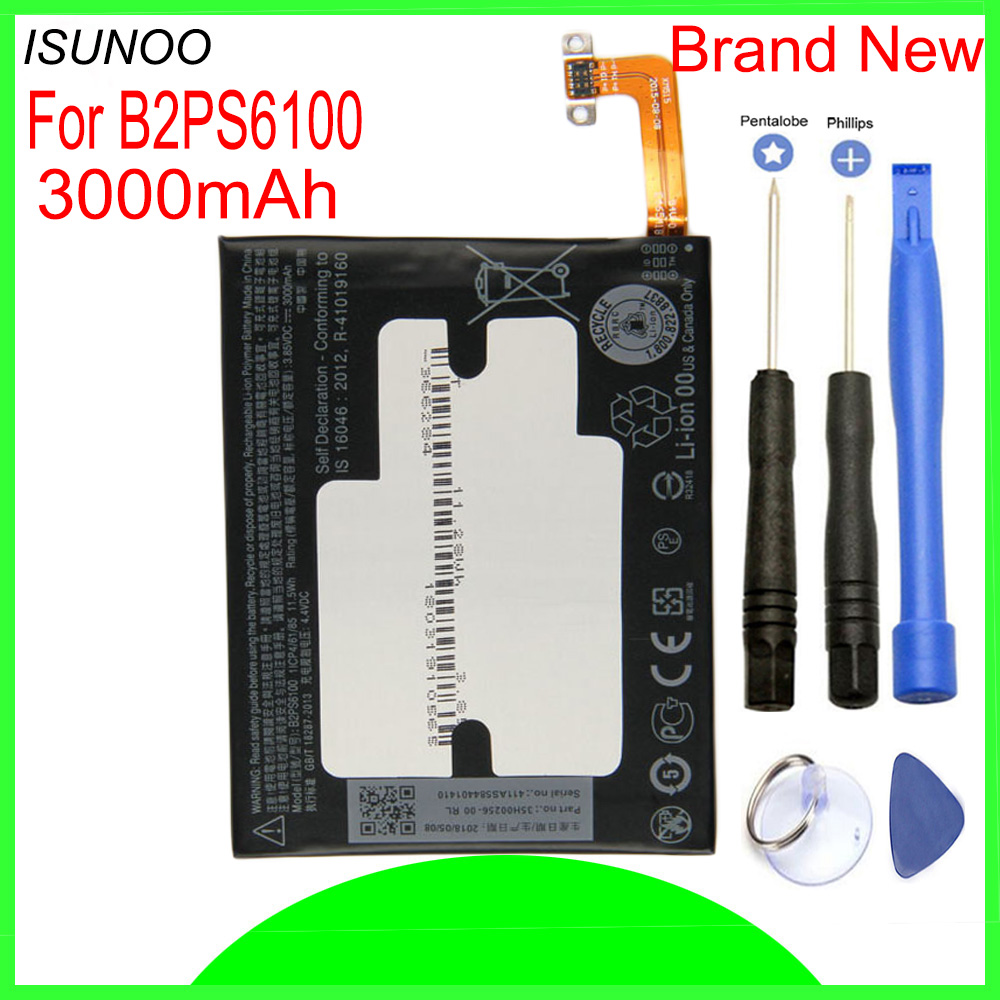 ISUNOO 3000mAh B2PS6100 Replacement Battery For One <font><b>M10</b></font> 10 / 10 Lifestyle M10H M10U Batterie Bateria With <font><b>Repair</b></font> Tools image