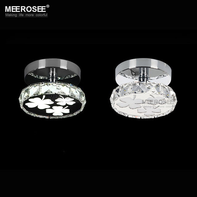 Hot New Led Ceiling Lighting Fixture Modern Crystal Flush Mounted Light Small For