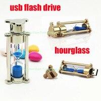 Real Capacity Usb Flash Drive Metal Hourglass 64GB 8GB 16GB 32GB Flash Drive Pendrive Usbstick Romantic