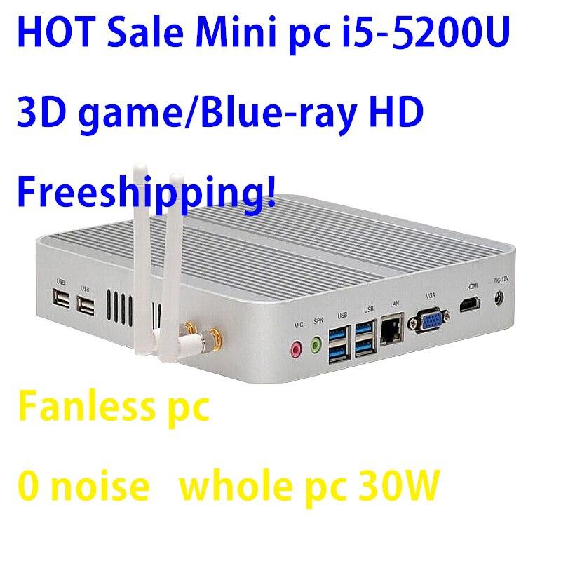 Intel Broadwell i5 5200u/5250u Intel HD Graphics 5500 Fanless I5 Mini Pc Windows 7 win8 win10 VGA HDMI Mini Nettop Htpc ainol mini pc ii win8 dual boot intel hd graphics7 media player
