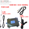 Coche de refuerzo de doble banda GSM900Mhz 1800 Mhz teléfono móvil amplificador de señal para el coche, GSM DCS repetidor de señal de uso del vehículo amplificador de señal