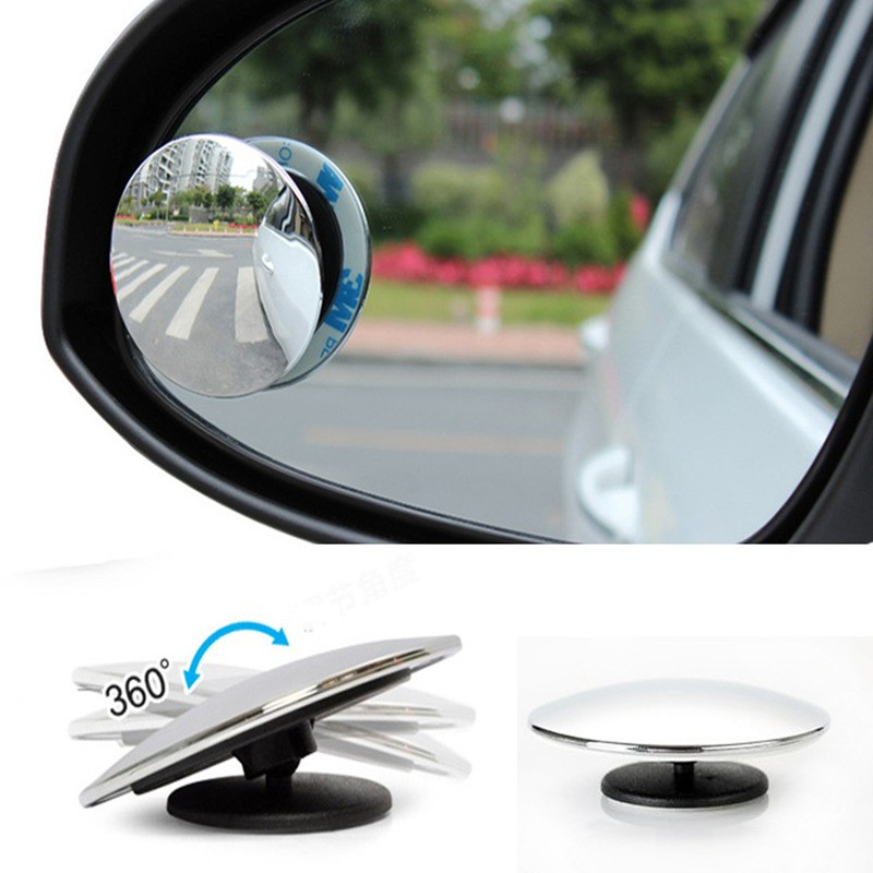 2pcs 360 Degree Car Side View Mirror Wide Angle Round