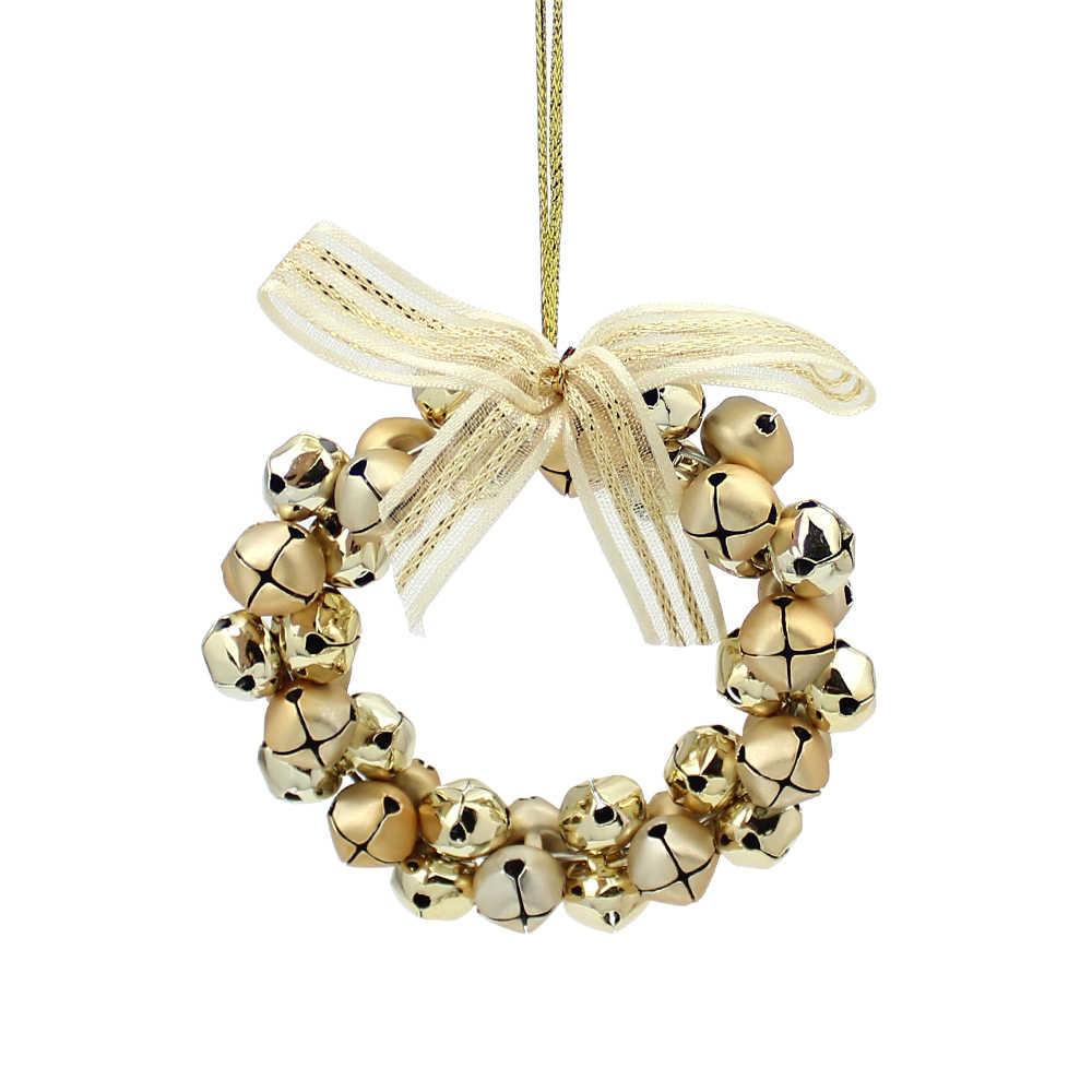 Christmas Bells.Huadodo Christmas Bells Wreath Pendants Ornaments Jingle Bell For Xmas Tree Door Hanging Ornaments Christmas Party Decorations