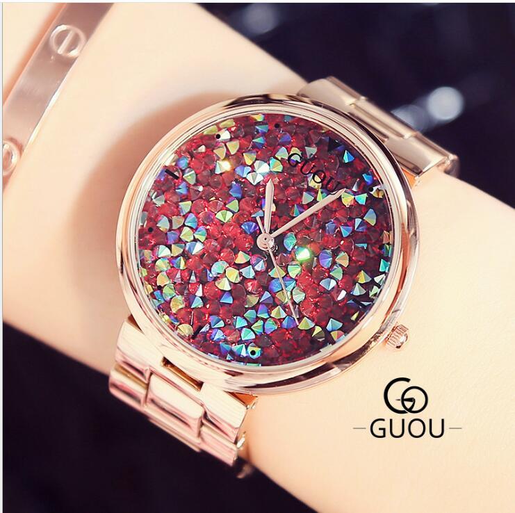 Star Watch temperament Van diamond face large dial quartz ladies watches luxury gold fashion design watch women's watch Relogio стоимость