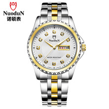 Nuodun Мужчины Кварцевые Часы Montre Homme Мужская Мода Наручные Часы Для Человека Из Нержавеющей Стали Водонепроницаемый Повседневная Часы Relojes