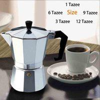Máquina do fabricante de caneca de café de alumínio pote de café Mocha pote de Café Espresso Continental turquia cafeteira octogonal ferramentas|Cafeteiras|Casa e Jardim -