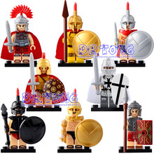 DR TONG X0164 Medieval Knights Super Heroes Rome Commander Centurion Crusader Spartacus Action Building Blocks Bricks