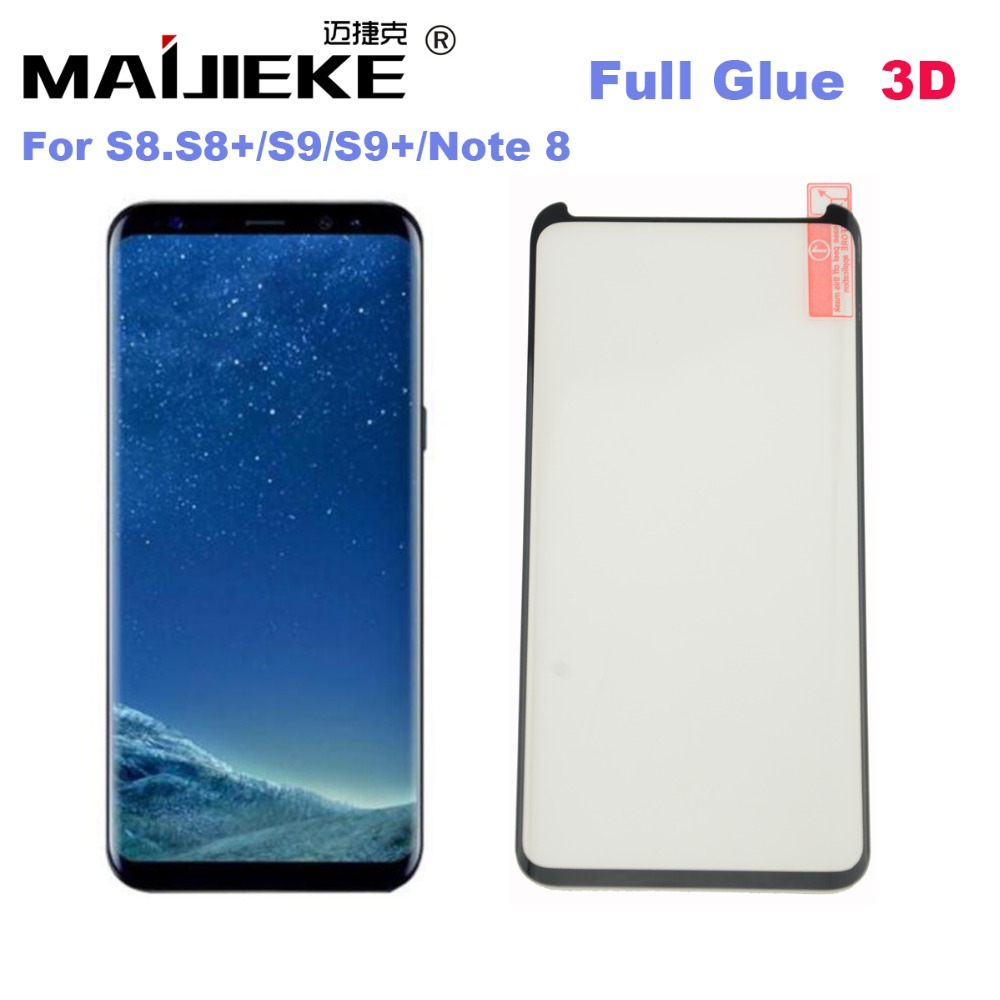 New AAA 3D Full Glue Adhensive Case Friendly Tempered Glass for Samsung Galaxy S8 S9 Plus Note 8 S7 edge Phone Screen Protector