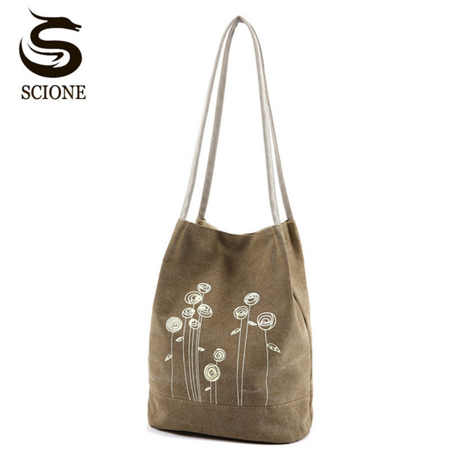 3b7a2763d4 Fashionable Women Canvas Shoulder Bag Cute Flower Printing Handbags Bucket Tote  Bag Ladies Shopping Totes Beach Bag JXY575