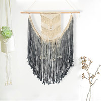 90x50cm Handmade Gradient Macrame Wall Hanging Woven Tapestry Bohemian Hand knitted Boho Wall Hanging Tapisserie Home Decoration
