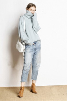 Hot Sale 5Colors Women Pullover and Sweater 100% Cashmere Knitted Jumpers Winter New Fashion Thick Warm Female Clothes Girl Tops 4