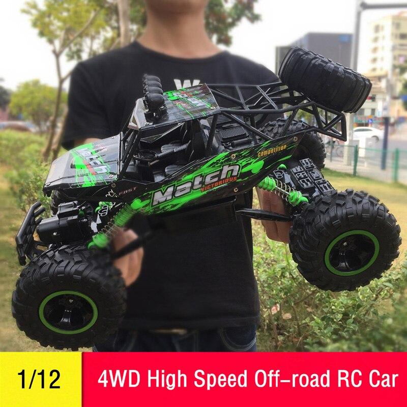 Carro RC 1/12 4WD Veículo de Controle Remoto de Alta Velocidade 2.4Ghz Brinquedos Monster Truck Elétrico DO RC De Buggy Off-Road carros Crianças Presentes Surpresa