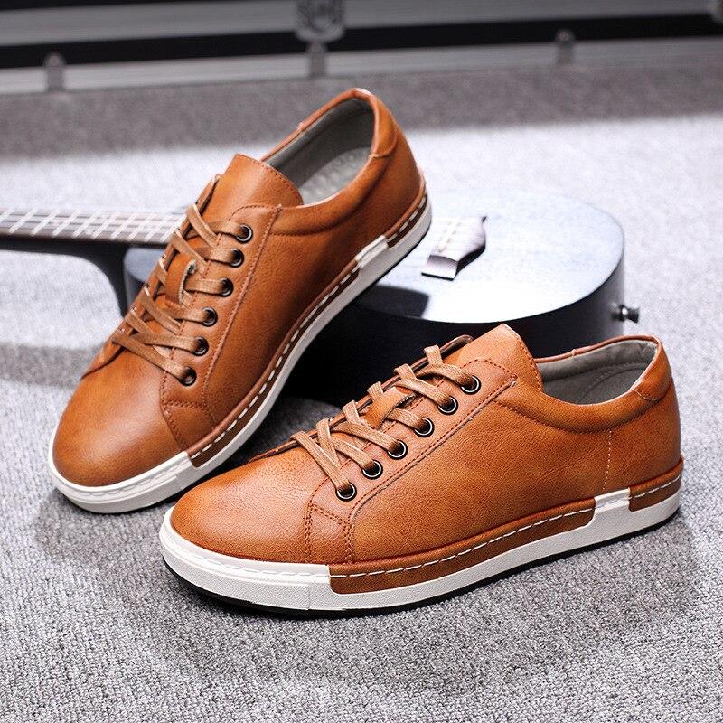 Brown Chaussures La Plus Robe En Confortable Dcv45 Bureau Taille Bout Hommes gris noir Cuir Occasionnels De Appartements 2018 Rond jaune Mode wTOI6O