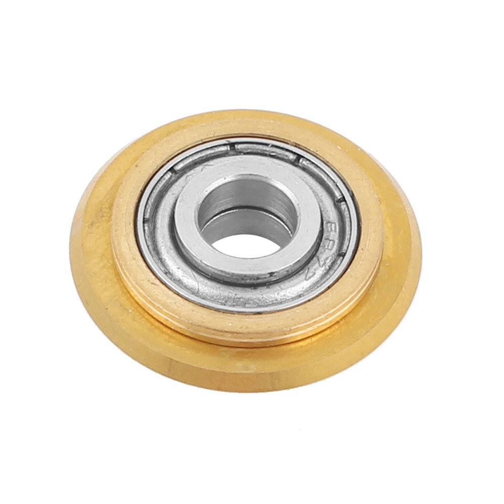 UXCELL Hot Selling 1pcs 22mmx6mmx6mm Titanium Coating Tungsten Carbide Ceramic Tile Cutter Wheel Replacement Brass Tone