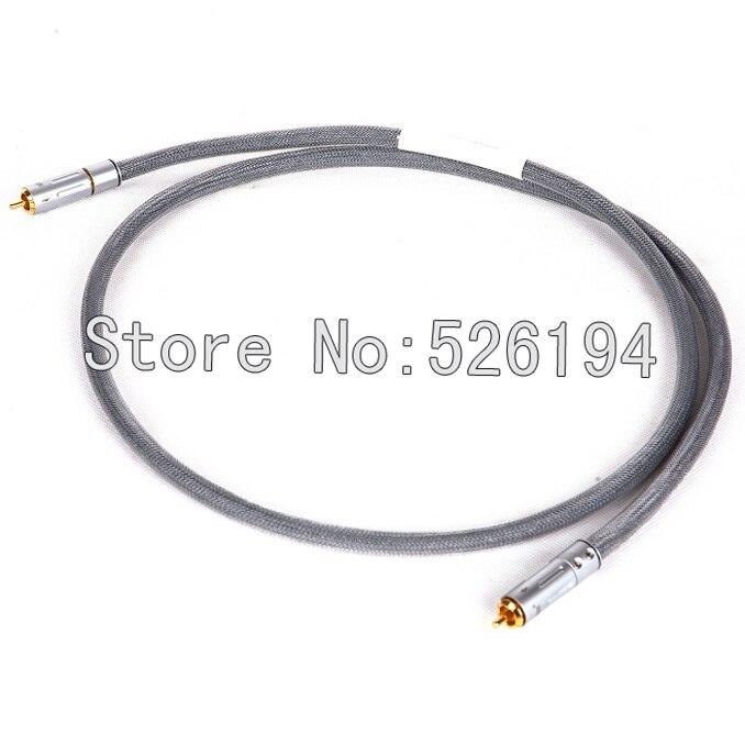 Livraison gratuite pièces Western électrique blindé câble Coaxial câble numérique witg plaqué or prise RCA