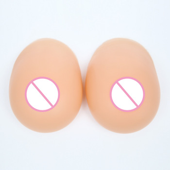 800g/pair C Cup Lifelike Artificial Split Breast Forms Fake Breast False Male Drag Queen Shemale Transsexual Man Crossdresser