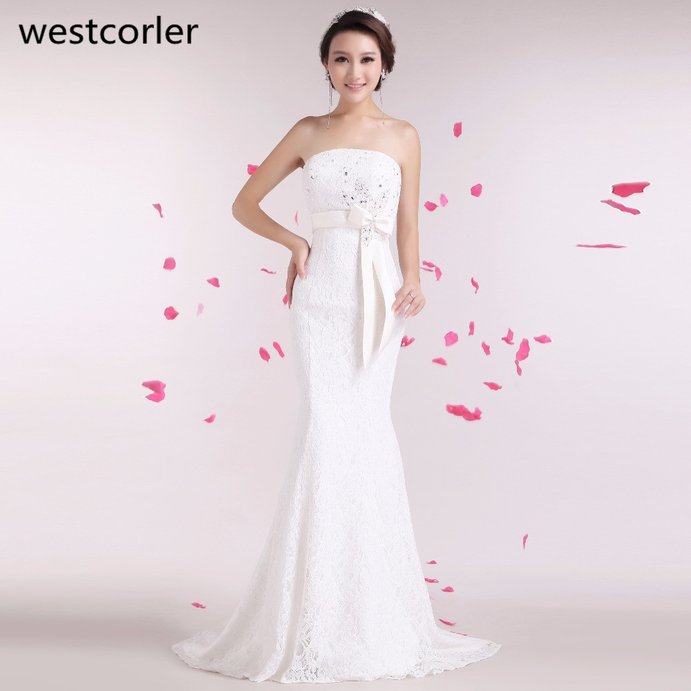 Cheap Wedding Dresses Size 6: Westcorler Real Picture Plus Size Wedding Dress 2017