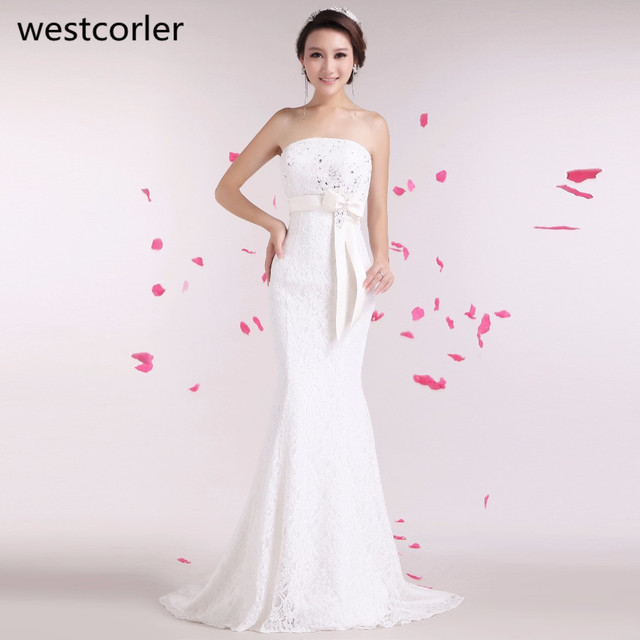 Westcorler Real Picture Plus Size Wedding Dress 2017 Strapless