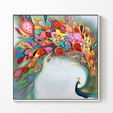 Youran Colorful Art Peacock Diamond Embroidery Kits Full Sqaure Round 5d diy Painting Cross Stitch Animal Home Decor